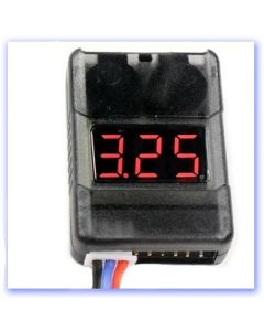 1-8 Cell Lithium Battery Voltage Checker & Low Volt (LOUD) Alarm (RB408068)